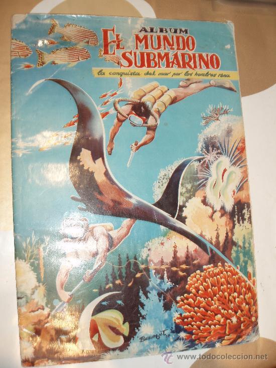 ALBUM EL MUNDO SUBMARINO FERMA COMPLETO (Coleccionismo - Cromos y Álbumes - Álbumes Completos)