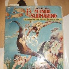 Coleccionismo Álbum: EL MUNDO SUBMARINO ALBUM FERMA CASI COMPLETO. Lote 29194152