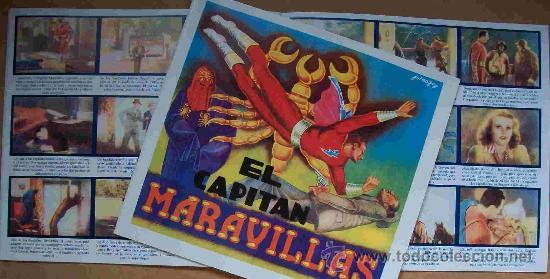 ALBUM (EL CAPITAN MARAVILLAS) (REEDITADO) CROMOS IMPRESOS (Coleccionismo - Cromos y Álbumes - Álbumes Completos)