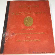 Coleccionismo Álbum: GESTALTEN DER WELTGESCHICHTE - ALBUM DE MINIATURAS DE TABACOS ALEMAN 1936 COMPLETO REBAJADO. Lote 29369870