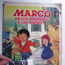Coleccionismo Álbum: ANIME ALBUM COMPLETO MARCO DE LOS APENINOS A LOS ANDES + SOBRE CERRADO TAURUS Y BETA FILM, AÑO 1976.. Lote 29393411