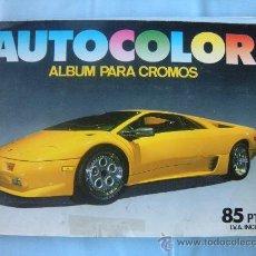Coleccionismo Álbum: ALBUM AUTOCOLOR COCHES. COMPLETO.. Lote 29445437