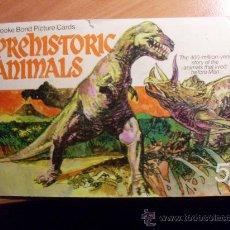 Coleccionismo Álbum: ALBUM COMPLETO PREHISTORIC ANIMALS ( ANIMALES PREHISTORICAS ) ( EN INGLES ) . Lote 29535993