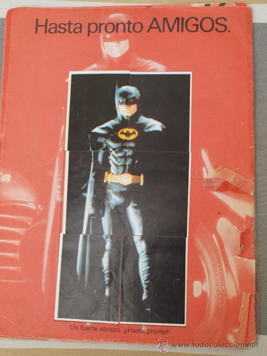 Coleccionismo Álbum: ALBUM BATMAN COMPLETO PORTADA CASTIGADA Y FALTA CONTRAPORTADA PARA APROVECHAR CROMOS - Foto 2 - 29498126