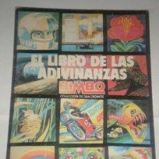 Coleccionismo Álbum: ALBUM CROMOS COMPLETO EL LIBRO DE LAS ADIVINANZAS DE BIMBO. Lote 29695233