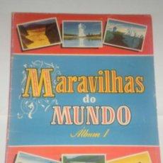 Coleccionismo Álbum: ALBUM CROMOS COMPLETO MARAVILLAS DO MUNDO (PORTUGUES). Lote 29695557