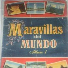 Coleccionismo Álbum: ALBUM COMPLETO MARAVILLAS DEL MUNDO ALBUM I. Lote 29701027