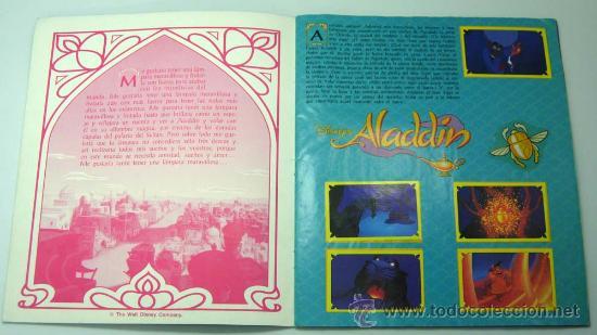 Coleccionismo Álbum: Aladdin Disney álbum Panini completo película Walt Disney - Foto 2 - 94111762
