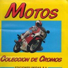 Coleccionismo Álbum: ALBUM COMPLETO : MOTOS ( EDICIONES UNIDAS ) 1987 - MOTOR 16. Lote 29902345
