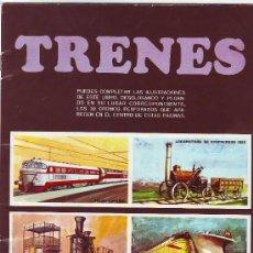 Coleccionismo Álbum: ALBUM DE CROMOS TRENES. Lote 29934856