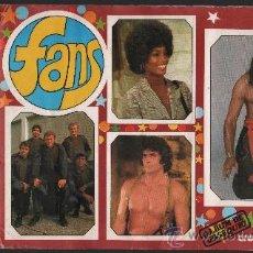 Coleccionismo Álbum: FANS.- EDITORIAL ESTE.- AÑO 1976.- ALBUM COMPLETO DE 182 CROMOS.. Lote 30404151