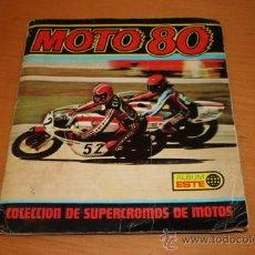 Coleccionismo Álbum: MOTO 80 SUPERCROMOS DE MOTOS 237 CROMOS DE 1977 ALBUM ESTE. Lote 30353679