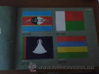 Coleccionismo Álbum: Banderas de todo el mundo, album completo de la editorial Salvat. - Foto 3 - 30661982