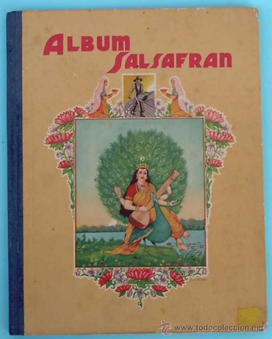 ALBUM COMPLETO ALBUM SALSAFRAN. EDITADO POR VDA. DE A. GOMEZ TEJEDOR. NOVELDA, ALICANTE, 1942. (Coleccionismo - Cromos y Álbumes - Álbumes Completos)