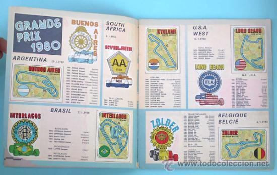 Coleccionismo Álbum: ÁLBUM COMPLETO. F1 GRAND PRIX. FIGURINE PANINI, 1980. - Foto 2 - 30897536
