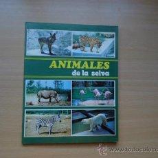Coleccionismo Álbum: ALBUM ANIMALES DE LA SELVA - COMPLETO Y CROMOS SIN PEGAR - AÑO 1972 PLANCHA. Lote 46652083