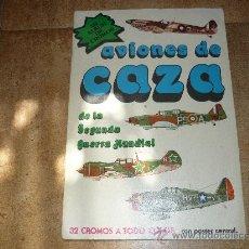 ALBUM DE CROMOS AVIONES DE CAZA COMPLETO
