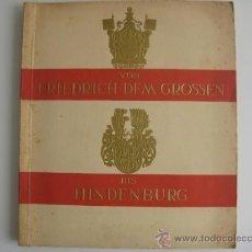 Coleccionismo Álbum: ALBUM VON FRIEDRICH DEM GROSSEN BIS HINDENBURG (DE FEDERICO EL GRANDE A HINDENBURG)ESCUDOS DE ARMAS. Lote 31346355