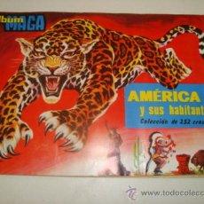 Coleccionismo Álbum: AMÉRICA Y SUS HABITANTES - COLECCIÓN DE 252 CROMOS - COMPLETO. Lote 31897231