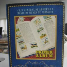 Coleccionismo Álbum: ÁLBUM SELLOS DE AHORRO INFANTIL CAJA AHORROS ZARAGOZA 1947 COMPLETO 500 CROMOS. Lote 32040561