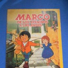 Coleccionismo Álbum: MARCO, DE LOS APENINOS A LOS ANDES. DANONE ÁLBUM DE CROMOS COMPLETO. Lote 32168377