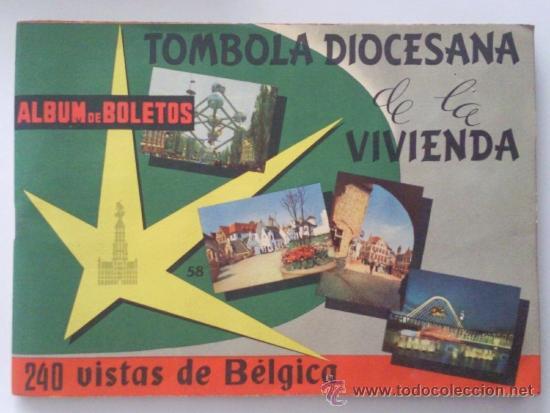 ALBUM, TOMBOLA DIOCESANA DE LA VIVIENDA, BELGICA, AÑO 1964, COMPLETO (Coleccionismo - Cromos y Álbumes - Álbumes Completos)