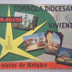Coleccionismo Álbum: ALBUM, TOMBOLA DIOCESANA DE LA VIVIENDA, BELGICA, AÑO 1964, COMPLETO. Lote 32206829