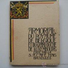 Coleccionismo Álbum: ALBUM CROMOS COMPLETO ARMORIAL DU ROYAUME DE BELGIQUE ET DU GRAND DUCHE DE LUXEMBOURG.CAFE HAG 1931. Lote 32686919