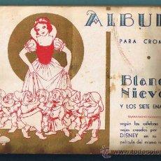 Coleccionismo Álbum: ÁLBUM COMPLETO BLANCANIEVES BLANCA NIEVES Y LOS SIETE ENANITOS. WALT DISNEY. EDITORIAL FHER, S/F.. Lote 32755210