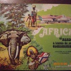 Coleccionismo Álbum: AFRICA EL MUNDO A TRAVES DE SUS CONTINENTES , LECHE RAM. Lote 32971565