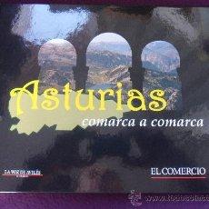 Coleccionismo Álbum: ASTURIAS COMARCA A COMARCA. LIBRO DE TAPA DURA, DE 29 X 23 CMS. 168 PAGINAS. COMPLETO. CON TODAS LAS. Lote 50133733