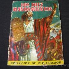 Coleccionismo Álbum: ALBUM DE CROMOS LOS DIEZ MANDAMIENTOS, BRUGUERA 1959 COMPLETO. Lote 186601317