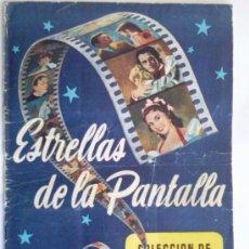 Coleccionismo Álbum: ALBUM, ESTRELLAS DE LA PANTALLA, EDITORIAL RUIZ ROMERO, 1954, COMPLETO. Lote 33145755