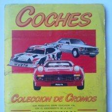 Collezionismo Álbum: COCHES, ALBUM DE CROMOS, MOTOR 16, COLECCION COMPLETA DE AUTOMOVILES, AÑO 1986. Lote 33245765