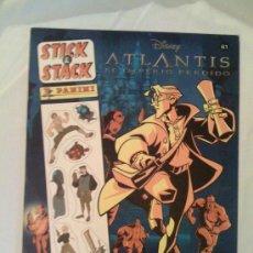 Coleccionismo Álbum: ÁLBUM DE STICK & STACK PANINI N° 61: ATLANTIS, EL IMPERIO PÉRDIDO. Lote 114765112