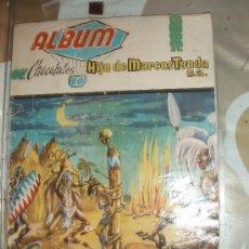 Coleccionismo Álbum: ALBUM CINCO SEMANAS EN GLOBO,MARCOS TONDA,CHOCOLATES BUANA CASI COMPLETO. Lote 33682200