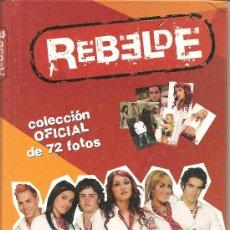 Colecionismo Caderneta: ALBUM COMPLETO DE POSTALES REBELDE. Lote 189944443