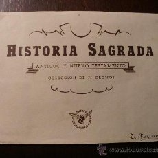Coleccionismo Álbum: HISTORIA SAGRADA. COMPLETO. DIFICILÍSIMO. Lote 34746771