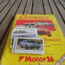 Coleccionismo Álbum: ALBUM DE CROMOS EDICIONES UNIDAS MOTOR 16 COMPLETO CON 15 CASILLAS DOBLES Y 43 CROMOS SUELTOS. Lote 35096703