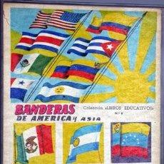 Coleccionismo Álbum: BANDERAS DE AMERICA Y ASIA. LIBROS EDUCATIVOS Nº 6. FHER. BILBAO, 1958. COMPLETO.. Lote 35376452