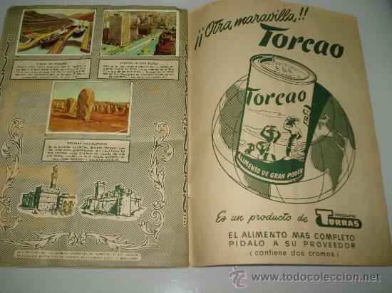 Coleccionismo Álbum: Antiguo Album ** MARAVILLAS DEL MUNDO ** Album I y II de Chocolates TORRAS .Año 1950s.. - Foto 6 - 35495660