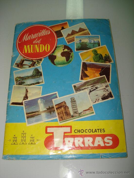 ANTIGUO ALBUM ** MARAVILLAS DEL MUNDO ** ALBUM I Y II DE CHOCOLATES TORRAS .AÑO 1950S.. (Coleccionismo - Cromos y Álbumes - Álbumes Completos)