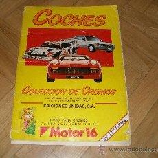 Coleccionismo Álbum: COCHES MOTOR 16 - EDICIONES UNIDAS. COMPLETO. Lote 39143222