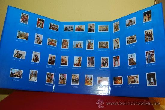 Coleccionismo Álbum: IMÁGENES DE LA SEMANA SANTA DE TARRAGONA - ÁLBUM CROMOS METÁLICOS - COMPLETO - AÑO 2001 - SELLOS - Foto 2 - 37373403