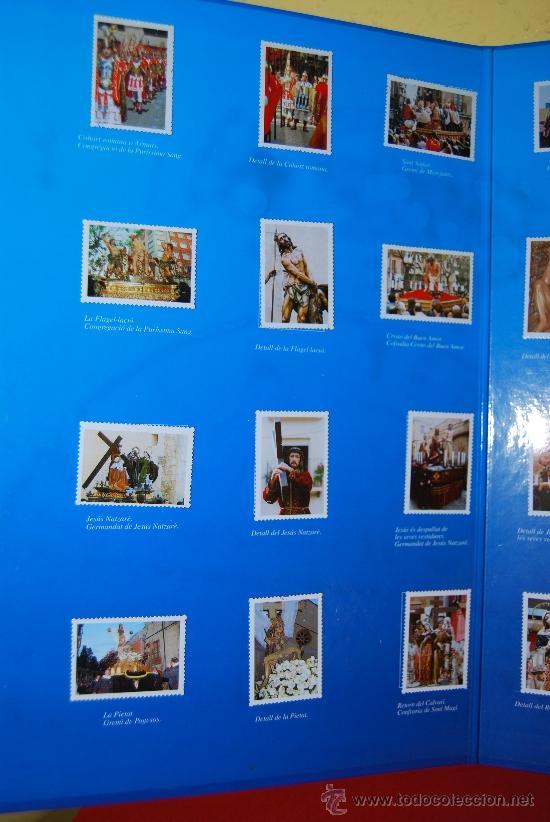 Coleccionismo Álbum: IMÁGENES DE LA SEMANA SANTA DE TARRAGONA - ÁLBUM CROMOS METÁLICOS - COMPLETO - AÑO 2001 - SELLOS - Foto 3 - 37373403