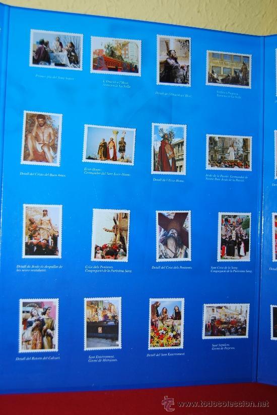 Coleccionismo Álbum: IMÁGENES DE LA SEMANA SANTA DE TARRAGONA - ÁLBUM CROMOS METÁLICOS - COMPLETO - AÑO 2001 - SELLOS - Foto 4 - 37373403