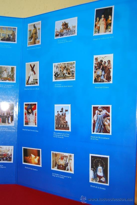 Coleccionismo Álbum: IMÁGENES DE LA SEMANA SANTA DE TARRAGONA - ÁLBUM CROMOS METÁLICOS - COMPLETO - AÑO 2001 - SELLOS - Foto 5 - 37373403