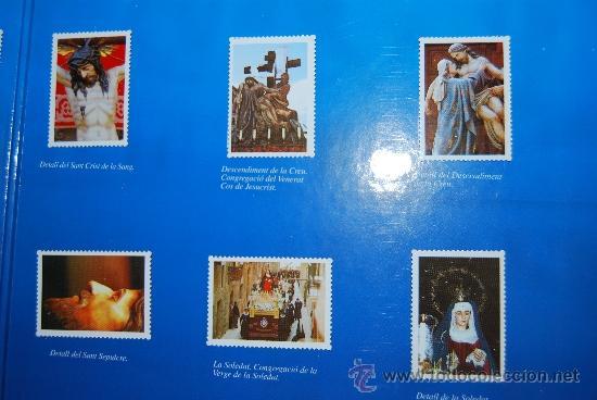 Coleccionismo Álbum: IMÁGENES DE LA SEMANA SANTA DE TARRAGONA - ÁLBUM CROMOS METÁLICOS - COMPLETO - AÑO 2001 - SELLOS - Foto 6 - 37373403