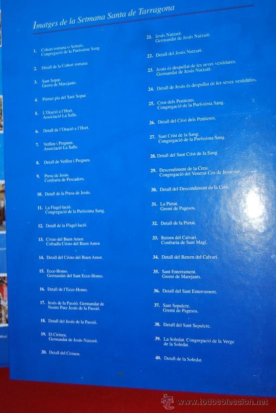 Coleccionismo Álbum: IMÁGENES DE LA SEMANA SANTA DE TARRAGONA - ÁLBUM CROMOS METÁLICOS - COMPLETO - AÑO 2001 - SELLOS - Foto 7 - 37373403