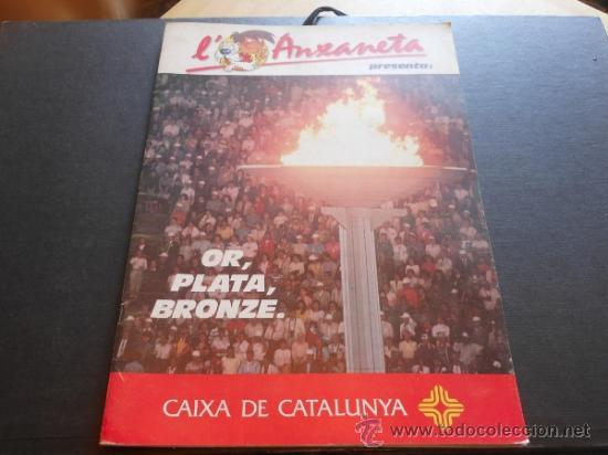 OR, PLATA, BRONZE. L'ANXANETA (CAIXA CATALUNYA 1988) COMPLETO (Coleccionismo - Cromos y Álbumes - Álbumes Completos)
